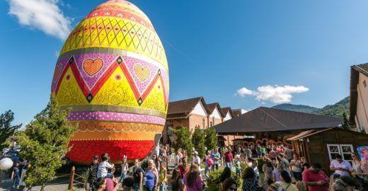 Pomerode entra para o 'Guinness' com maior ovo de Páscoa do mundo