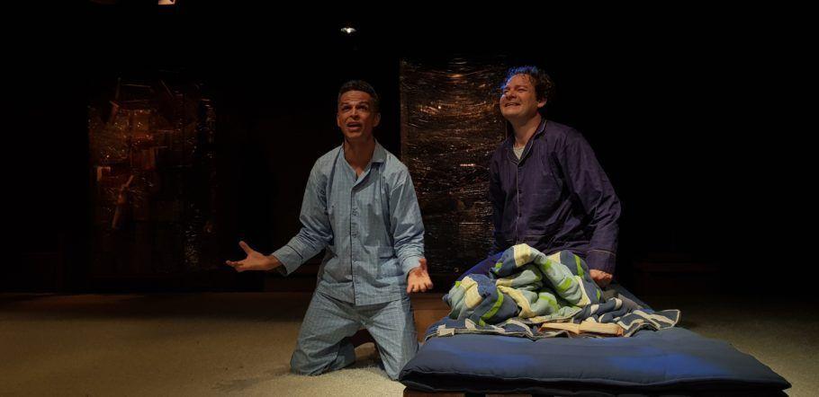 cena do espetáculo Pedro e Quim da companhia paideia