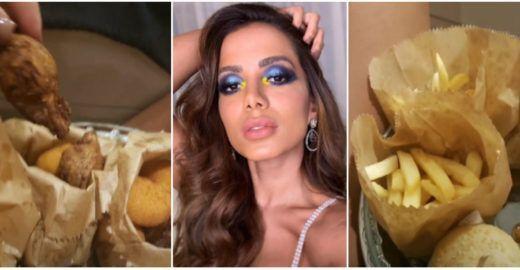 Anitta comemora aniversário e detalhe no cardápio chama atenção