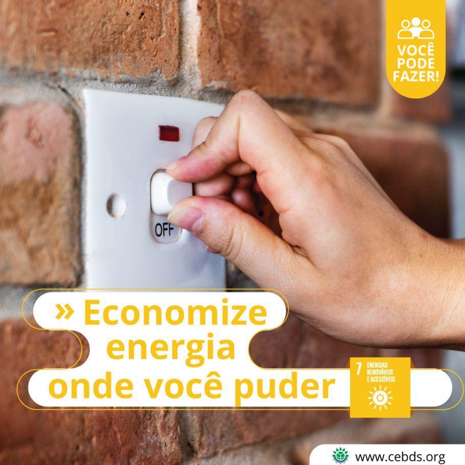 Não desperdiçar energia: uma das boas práticas ambientais e sociais