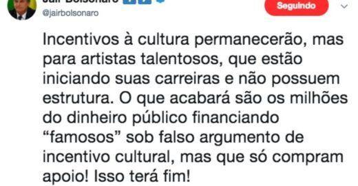 Dimenstein: tuíte de Bolsonaro desmoraliza milícias que me atacam
