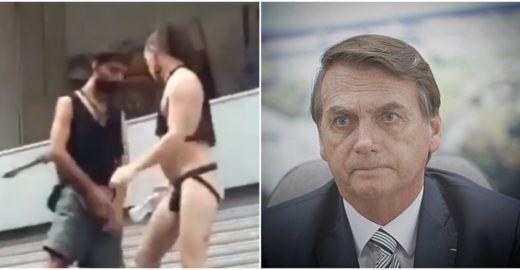 Bolsonaro generaliza e mostra cena de garoto urinando em bloco