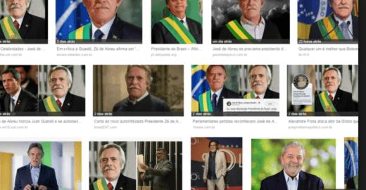Google não entende piada e faz Zé de Abreu presidente do Brasil