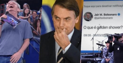 Zoeira da TV Globo usa Golden Shower para debochar de  Bolsonaro