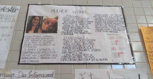 Cartazes com frases machistas são divulgados em pátio de escola