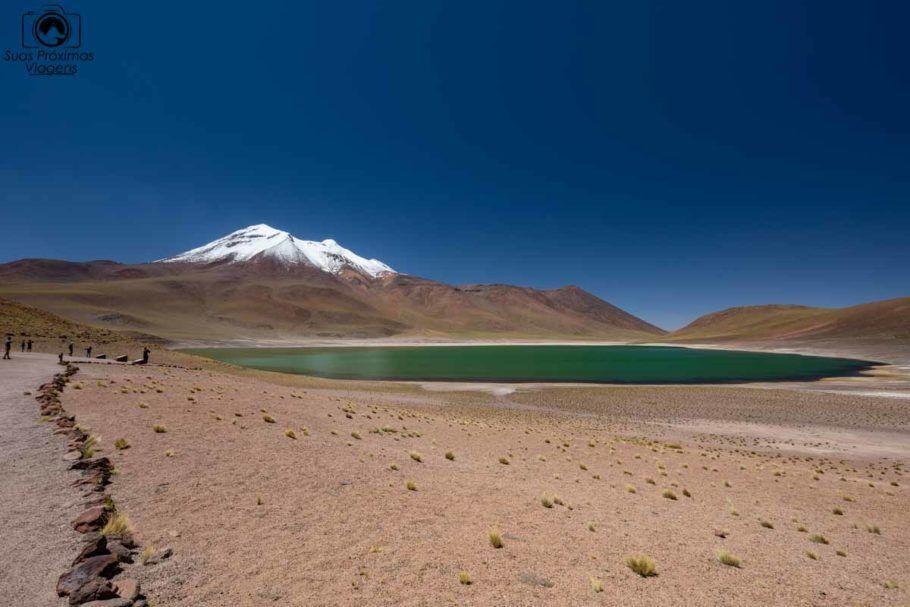 Foto da Laguna Miñique em Atacama