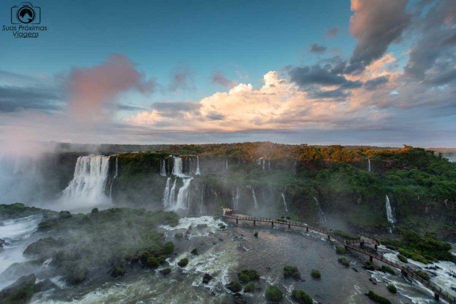 Vista das Passarelas nas Cataratas do Iguaçu