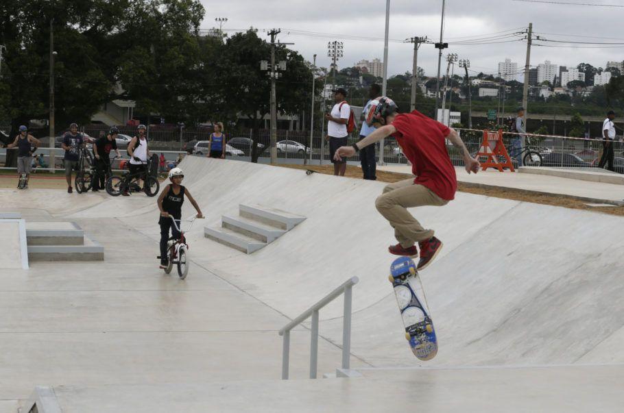 Skate Park no Centro de Esportes Radicais, no Bom Retiro