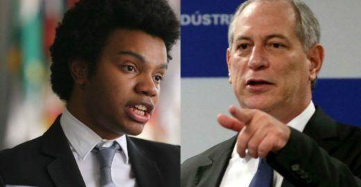 Ciro Gomes acusado de racismo por atacar de novo negro do MBL