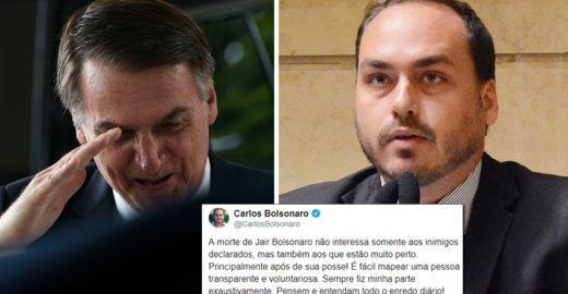"""""""Chantagem"""" reforça suspeita de doença de Carlos e Jair Bolsonaro"""