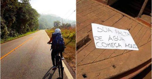 Ativistas fazem viagem de bike para registrar impactos ambientais