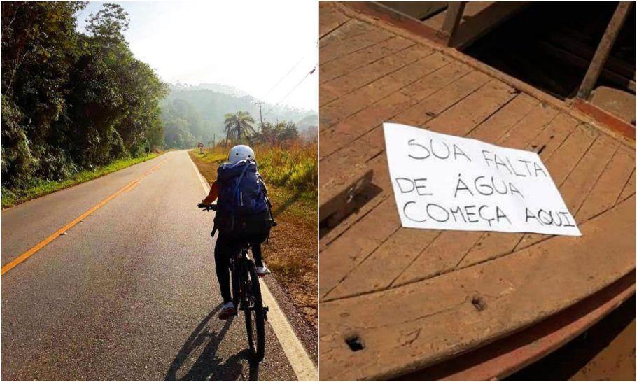 expedição de bike registra impactos das mudanças climaticas