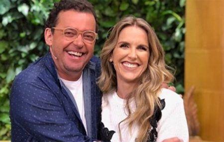 Fernando Rocha e Mariana Ferrão no programa Bem Estar, da TV Globo