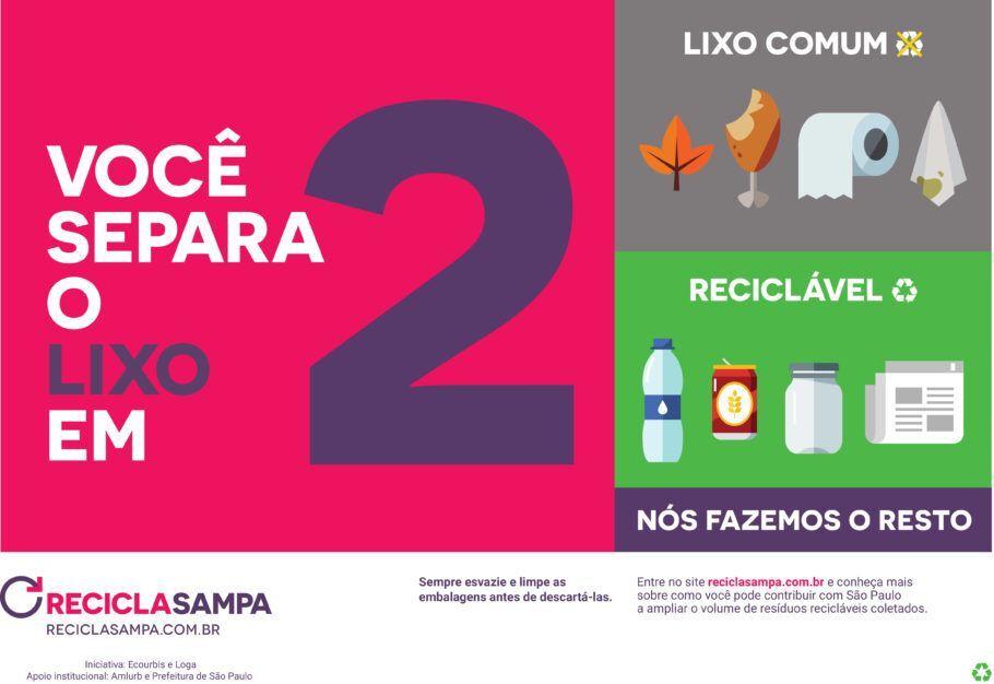 O Movimento Recicla Sampa ensina a forma correta de descarte do lixo durante o show do Paul McCartney