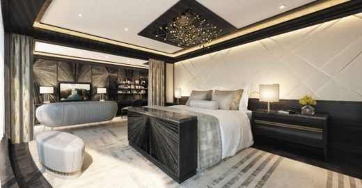 Navio de luxo terá suíte com cama que custa R$ 750 mil