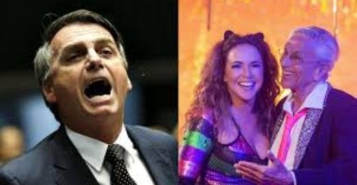 Bolsonaro publica Fake News para atacar Caetano e Daniela Mercury