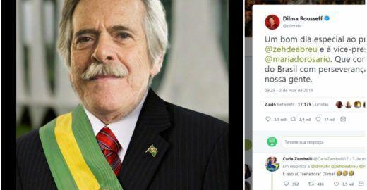 Dilma oferece apoio ao autoproclamado presidente José de Abreu