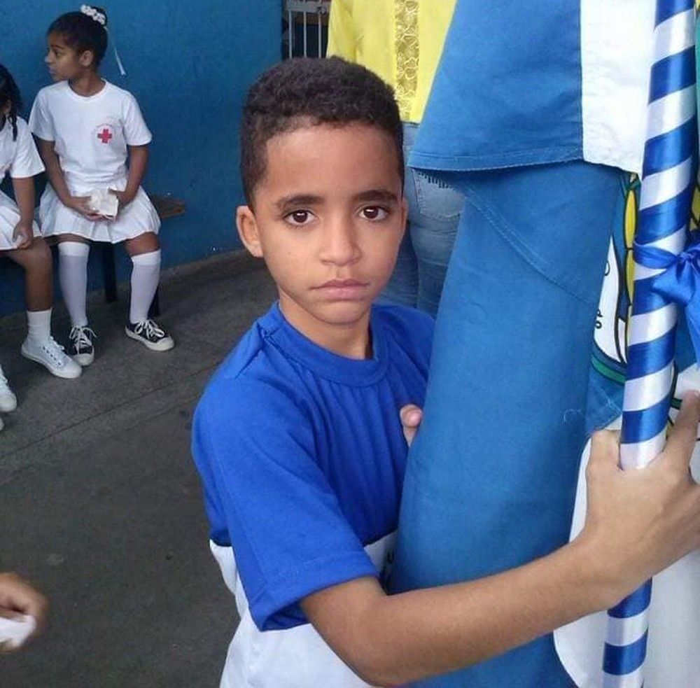 Kauan Peixoto, de 12 anos, morto pela PM