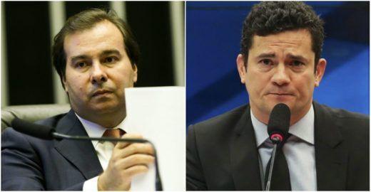 Maia desqualifica projeto de Moro e critica ministro de Bolsonaro