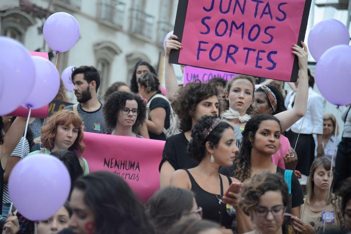 Manifestação feminista no Rio de Janeiro