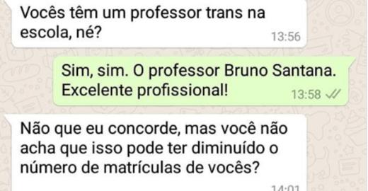 Escola é questionada sobre professor trans e resposta repercute