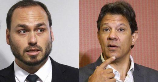 Haddad diz que ataque de Carlos Bolsonaro foi  grosseria sexual