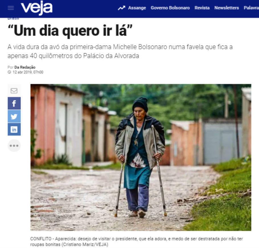 Resultado de imagem para avo de michelle mora em favela