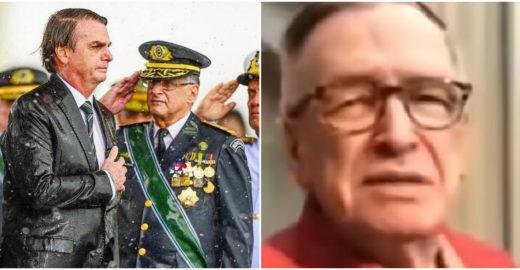 Bolsonaro posta vídeo de Olavo de Carvalho criticando militares