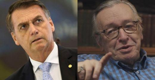 Olavo de Carvalho faz pouco caso de repreensão de Bolsonaro