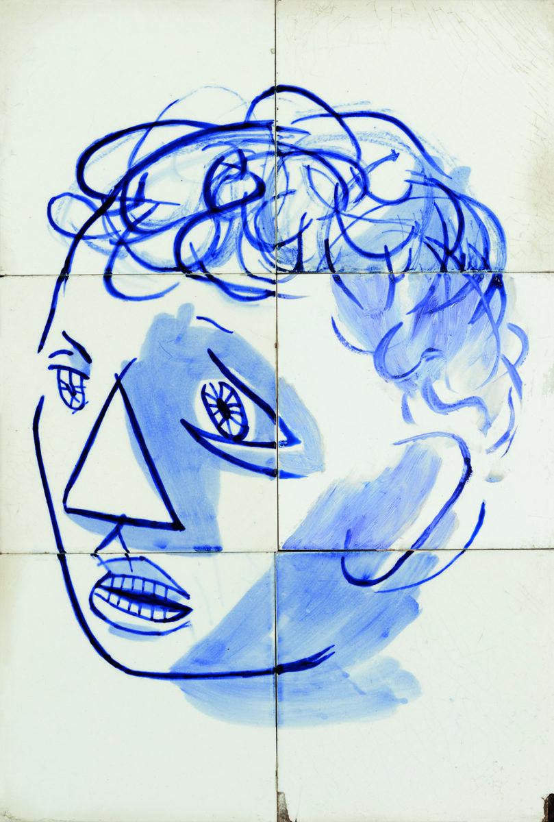 Candido Portinari, cabeça de São Francisco, 1944, óleo sobre azulejo, 48 x 33 cm
