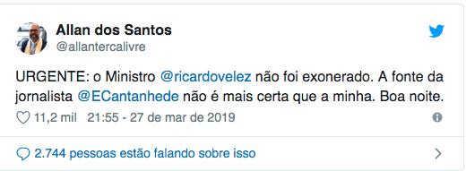 Covardia de Olavo de Carvalho na queda do ministro de Bolsonaro