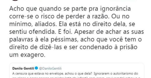 O melhor comentário sobre prisão Danilo Gentili provocou fúria