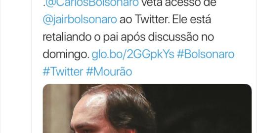 Época: Irritado, filho veta acesso de Bolsonaro ao Twitter