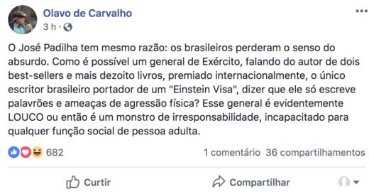 O mistério do visto americano do guru de Bolsonaro