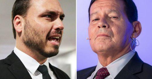 Conheça a verdade sobre o ódio de Carlos Bolsonaro contra Mourão