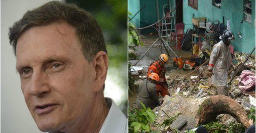 Crivella não gastou este ano com drenagem e contenção de encostas
