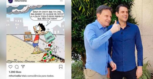 Filho de Crivella culpa população do Rio por estragos da chuva
