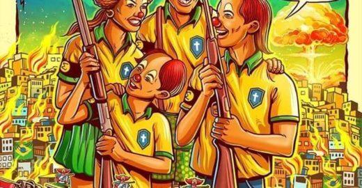 Banda punk americana critica governo Bolsonaro em cartaz de turnê