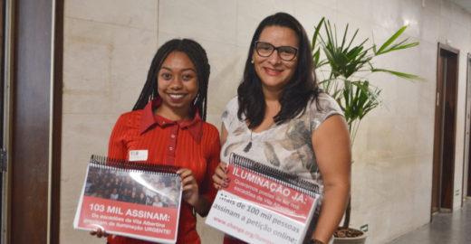Jovem leva à Câmara petição por iluminação pública na periferia
