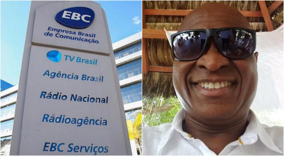 fachada da EBC e Evaldo dos Santos Rosa, músico morto por militares no Rio