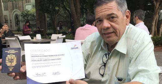 Mestre em educação, venezuelano recomeça vida em São Paulo