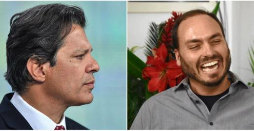 Haddad e filho de Bolsonaro trocam farpas pelo Twitter