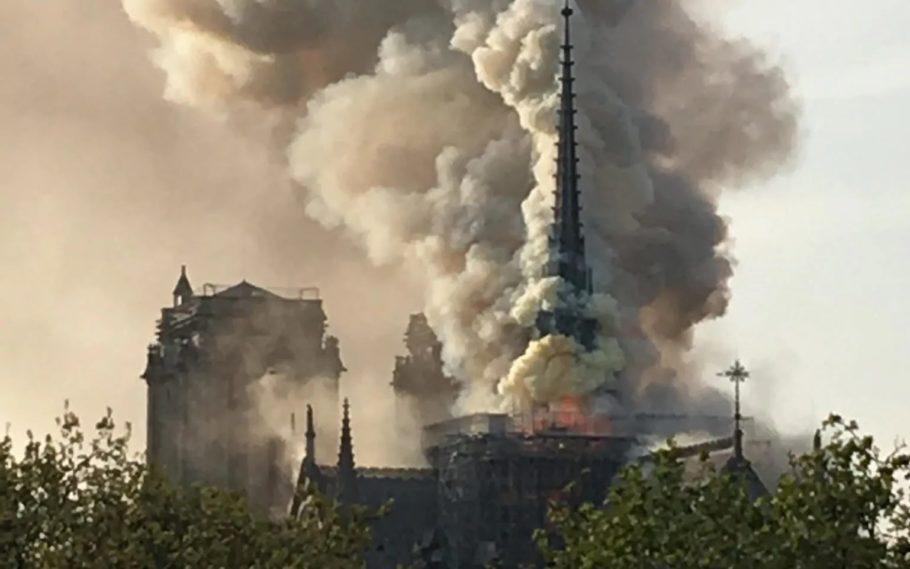 incêndio na catedral notre dame, em paris