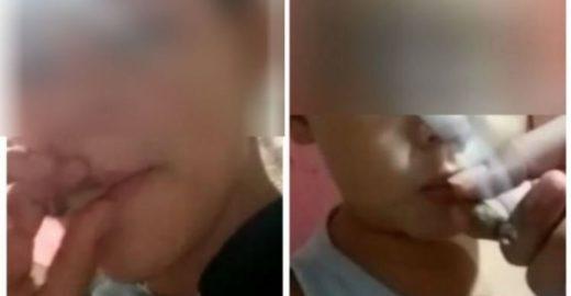 Polícia prende mãe que forçou criança de um ano a fumar maconha