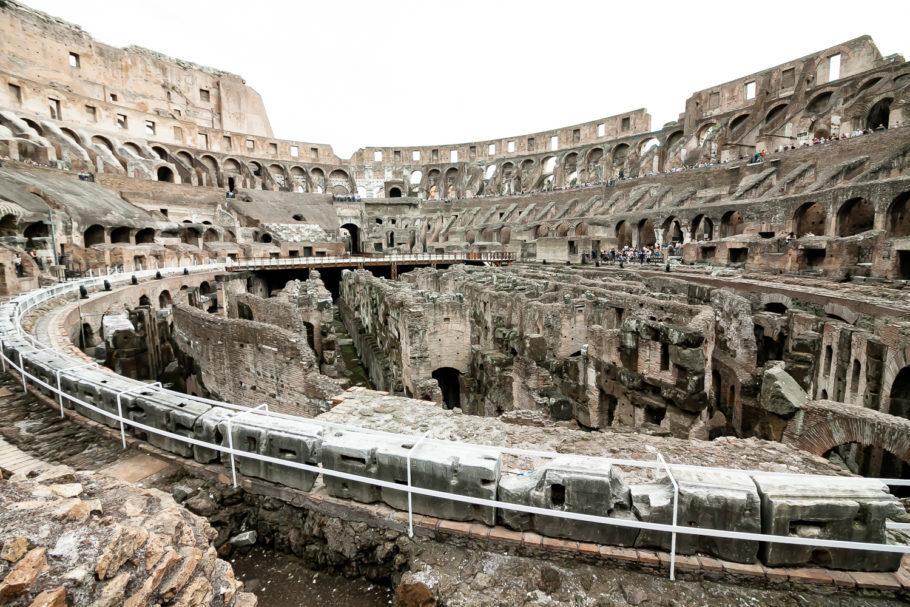 Coliseu e a parte subterrânea dele