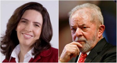 Mônica Bergamo e o ex-presidente Lula