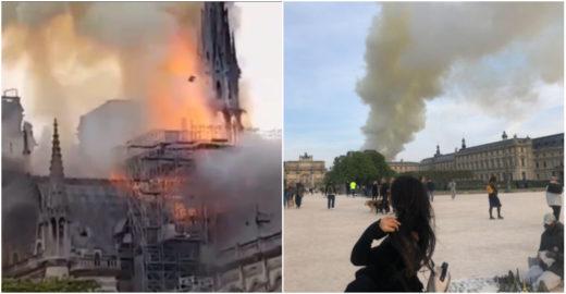 Brasileiros em Paris fazem cobertura do incêndio em Notre-Dame