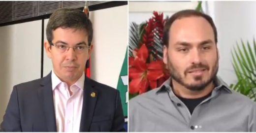 Carlos Bolsonaro ataca senador Randolfe com homofobia