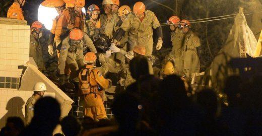 Rio: garoto retirado de escombros não resistiu; mortos chegam a 7