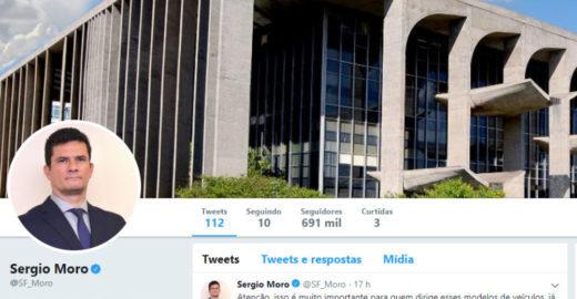 Globo: Moro já causa mais impacto no Twitter do que Bolsonaros